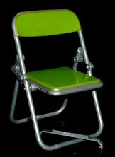 エール リアル折りたたみパイプ椅子 イエローグリーン