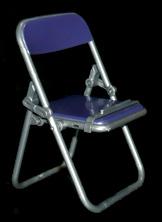 エール リアル折りたたみパイプ椅子 パープル