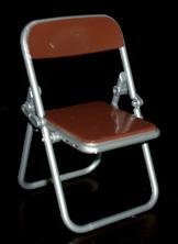 エール リアル折りたたみパイプ椅子 ブラウン