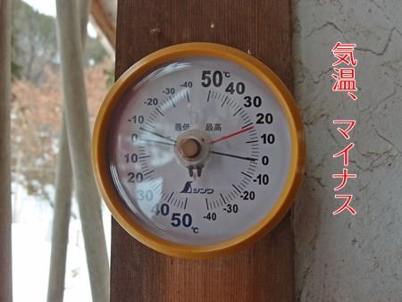 気温マイナスの真冬日