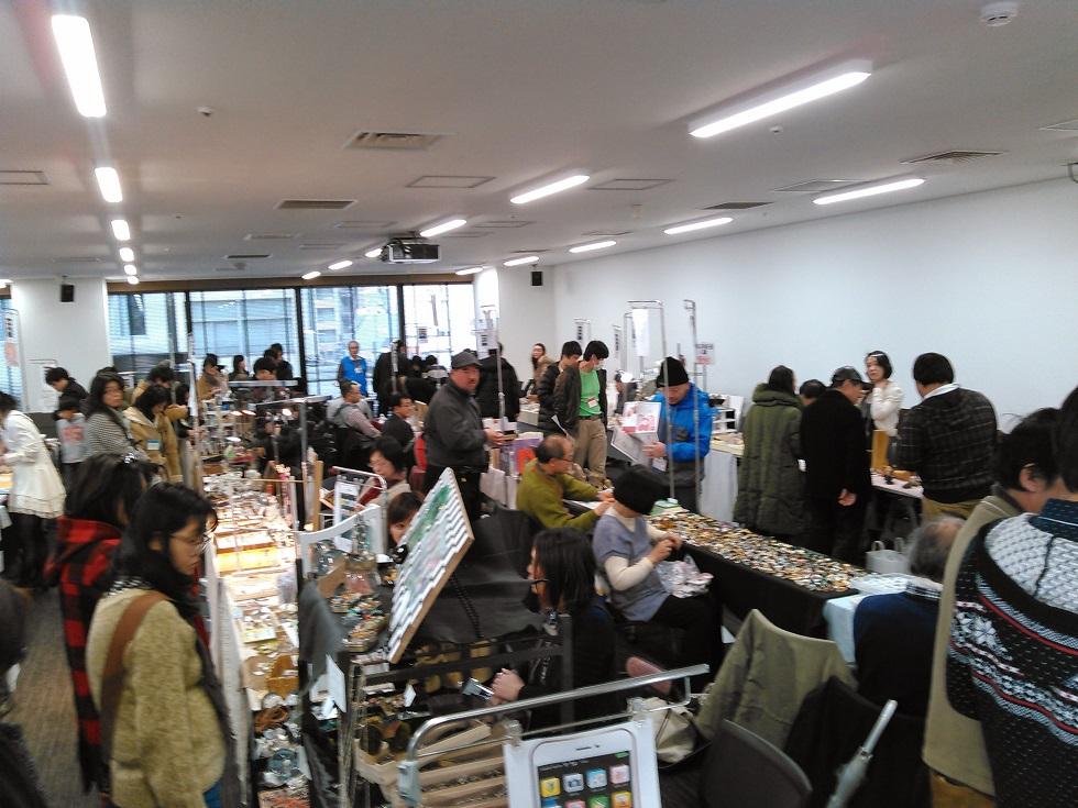 2015年1st浅草橋ミネラルショー_会場内の様子