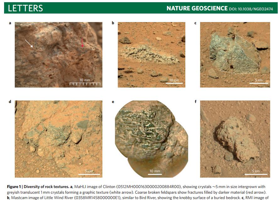 火星の表面の岩石 火星着陸 ハンレイ岩閃緑岩
