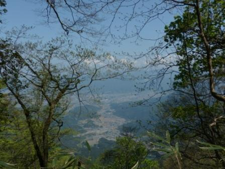 皿ヶ嶺 登山道からの眺め