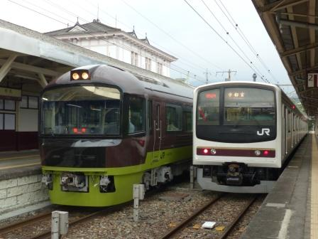 日光駅 リゾートやまどり & 日光線車両