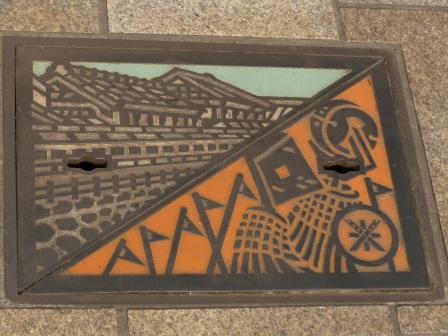 栃木市で見たマンホール