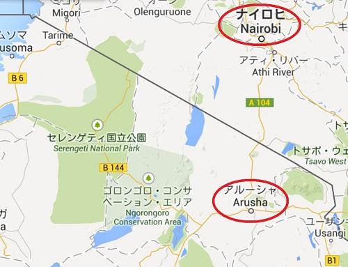 アルーシャの地図