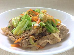 豚肉とキャベツのピリ辛味噌炒め