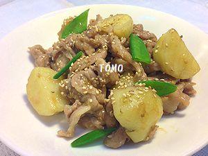 豚コマ肉の甘辛炒め
