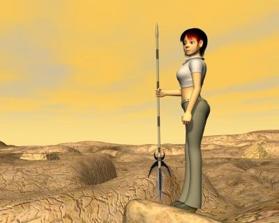 3Dキャラ火星のOL2