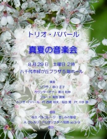 真夏の音楽会ババール2015