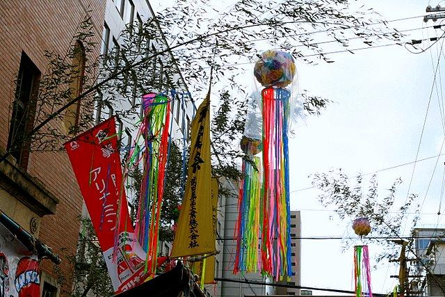 神農祭の笹飾り