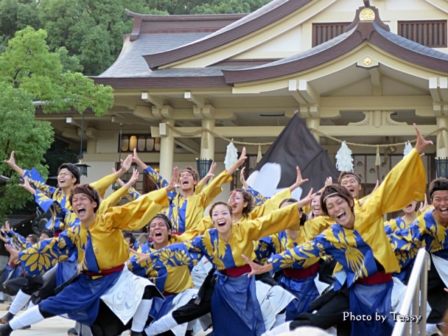 神戸学生よさこいチーム湊 湊川神社