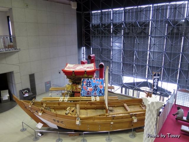 博物館展示 漁船と屋台