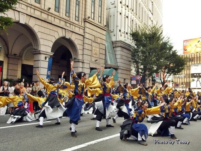 神戸学生よさこいチーム湊 花時計線パレード