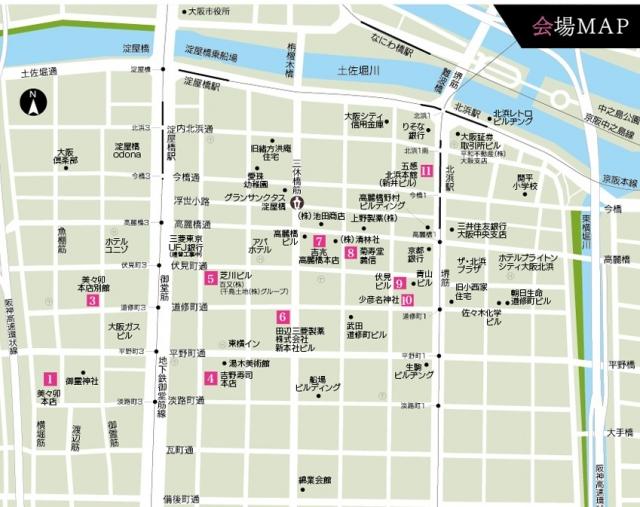 ひなまつり展 map
