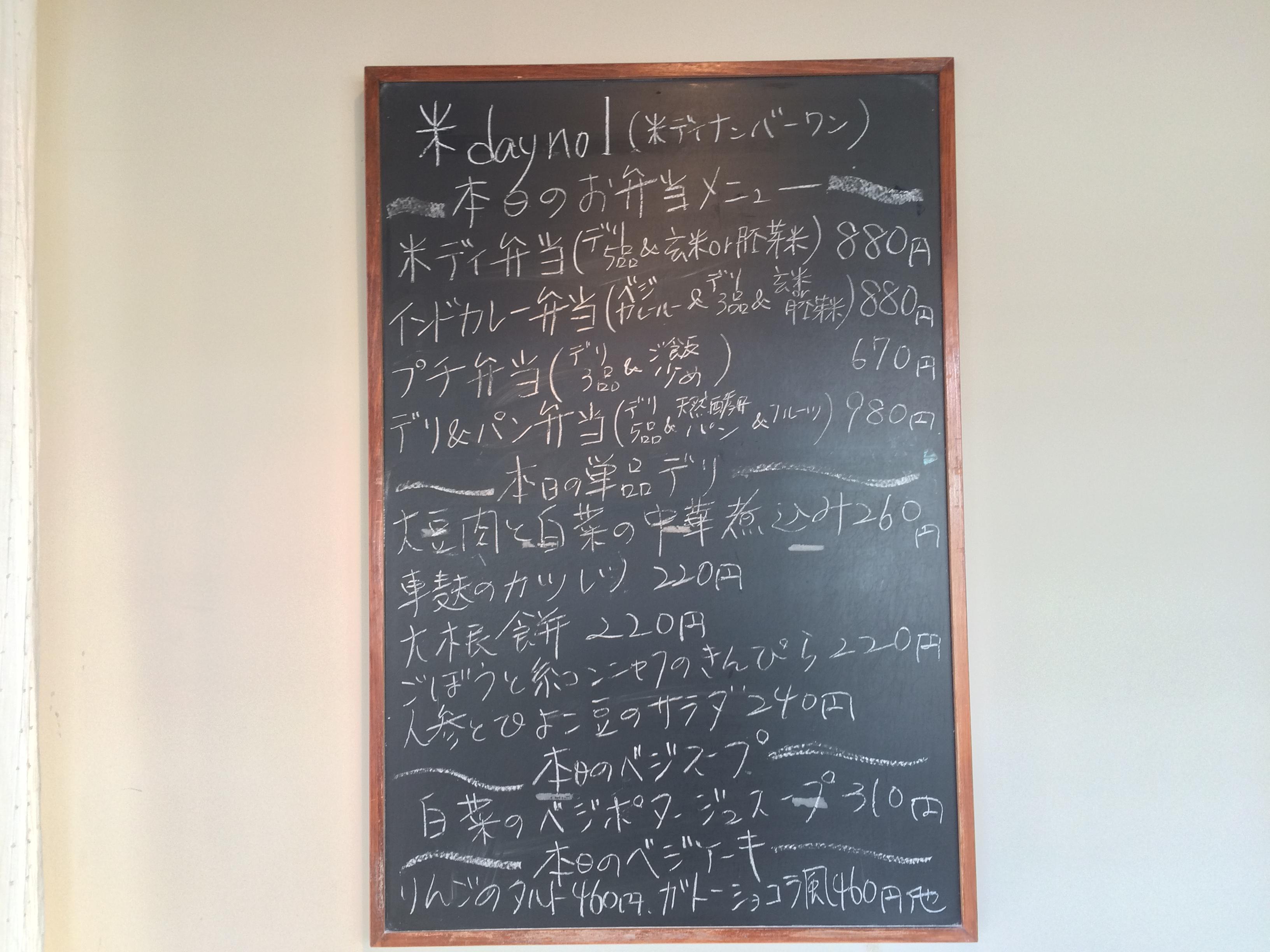 米ディナンバー黒板