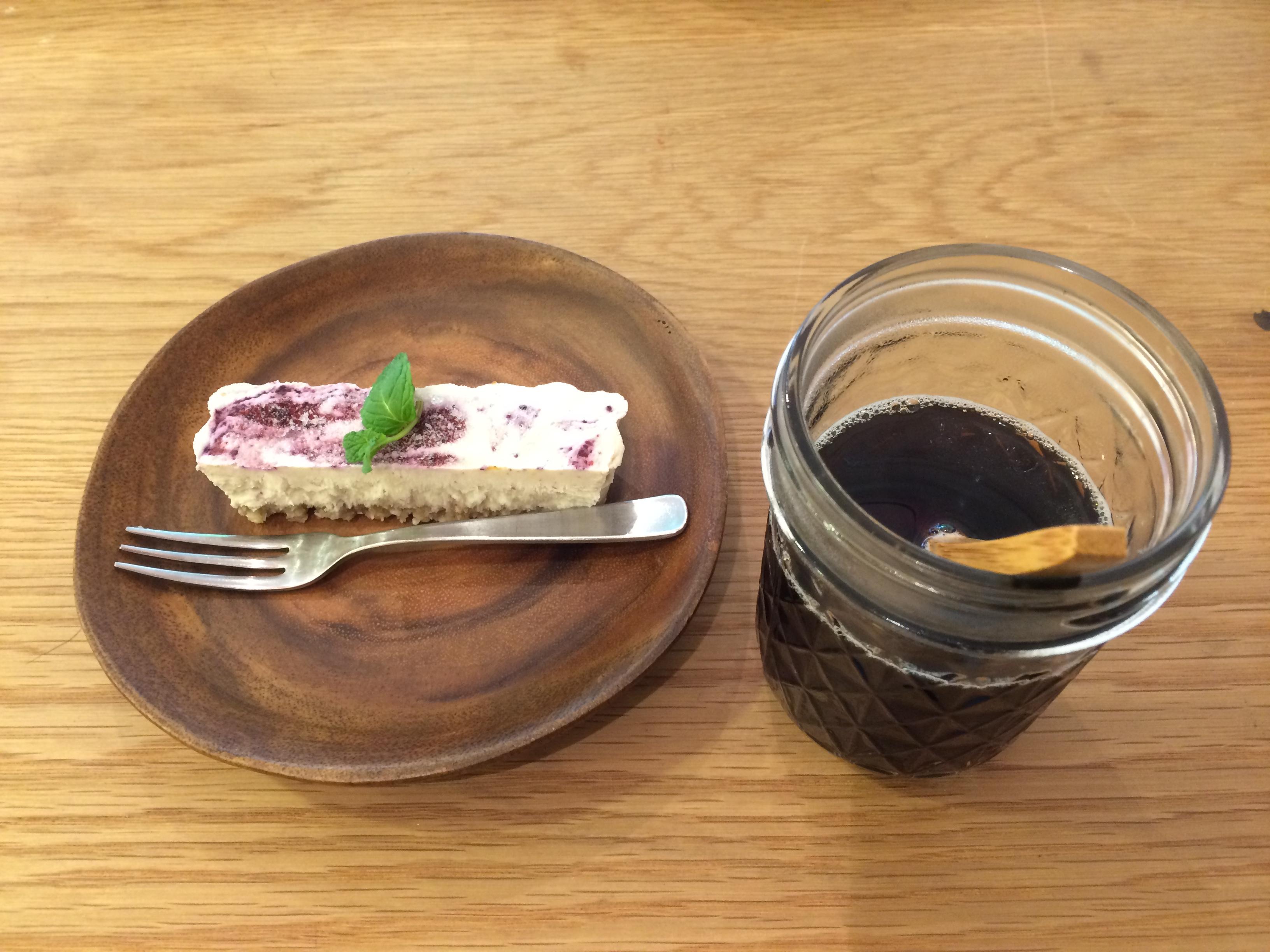 pranaローケーキと野菜コーヒー