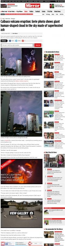 カルブコ山の巨人記事