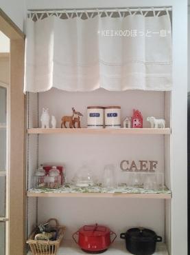 キッチンの飾り棚その後