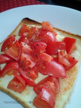 フルーツトマトのオープンサンド2