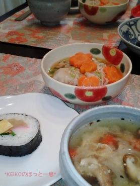 お土産巻き寿司と水仙の香り2