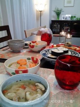 お土産巻き寿司と水仙の香り3