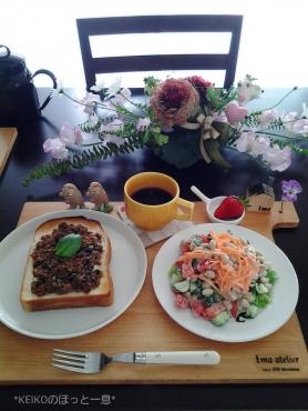 お初のカフェボードとジャーサラダ