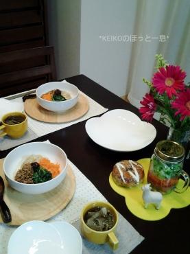 夜更けの4色おうちカフェ丼2