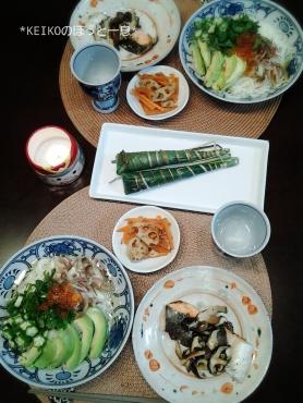 こどもの日の素麺とちまき2