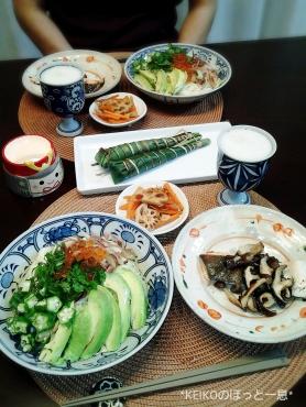 こどもの日の素麺とちまき3