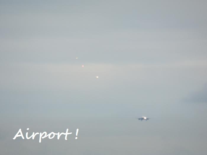 羽田に入る飛行機の数珠繋ぎだね