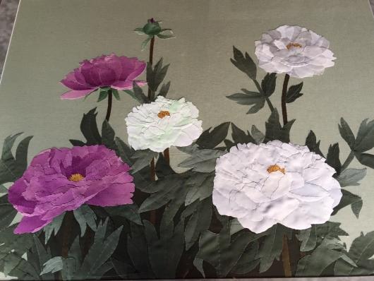 花澤洋子さんの布絵展