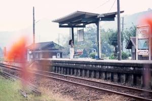 日向岡元駅の夏