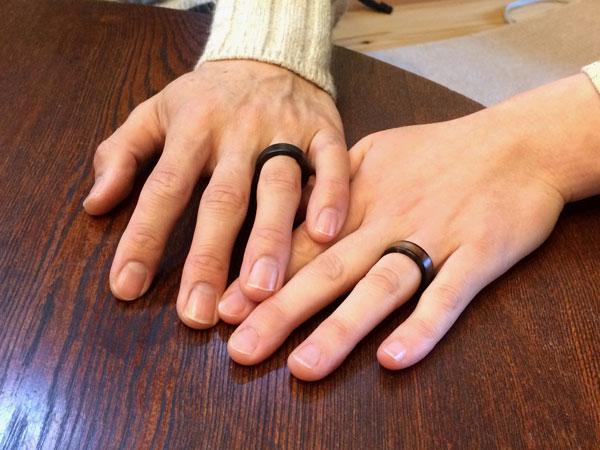黒柿指輪2