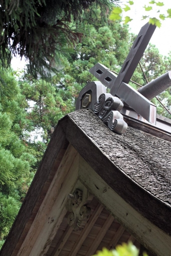 秋鹿神社の千木