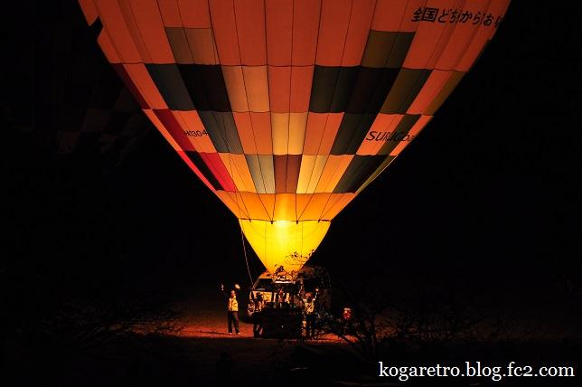 渡良瀬遊水地の熱気球3