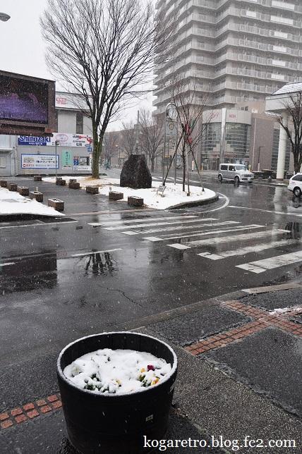 雪の古河駅4