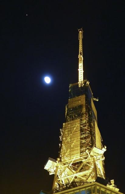 B20150330P_テレビ塔と月_P1050613