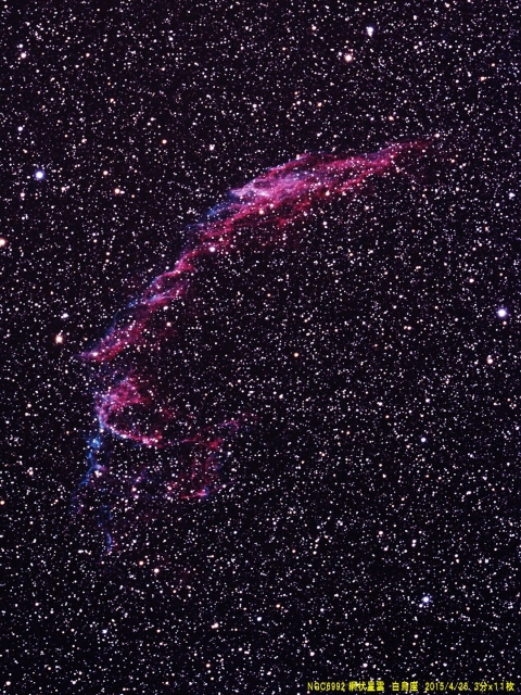 NGC6992_網状星雲_白鳥座_20150426M_922933x11