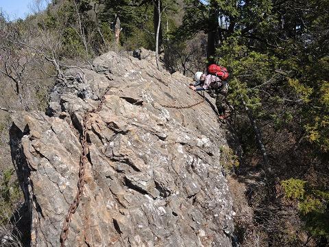 東岳登りトラバース