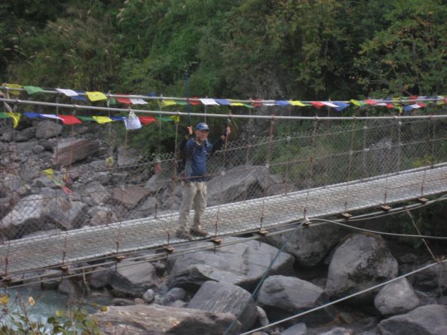 ランタン谷への橋