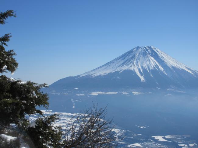毛無から富士山
