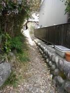 城跡への入口
