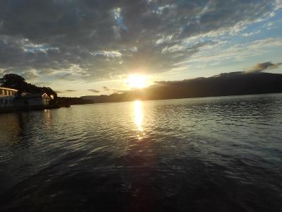 屈斜路湖の夕景