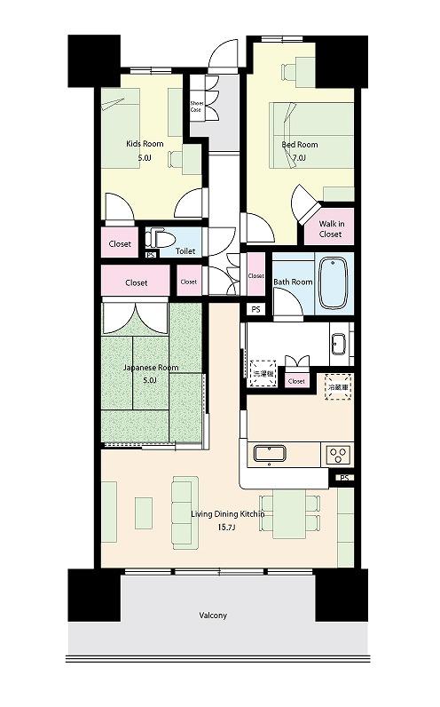 オハナ427号室図面