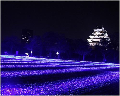 ブルーと大阪城
