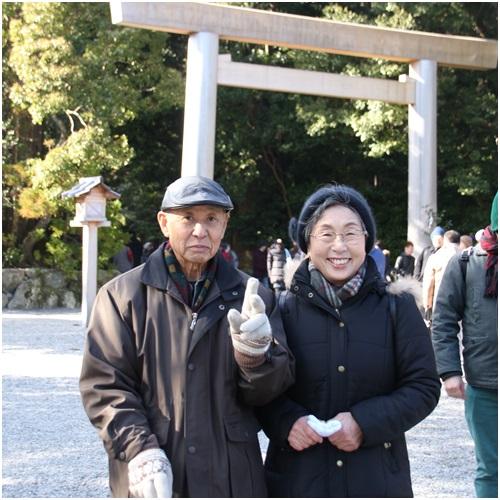 伊勢神宮の両親