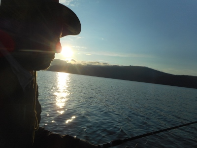 屈斜路湖夕景