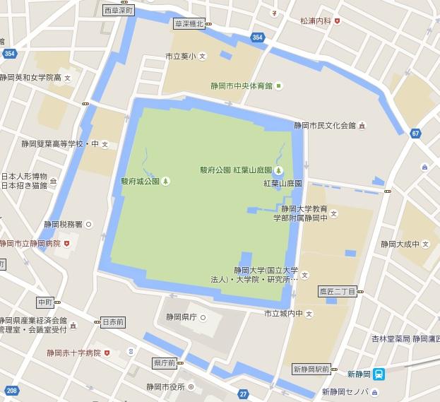 駿府城のマップ