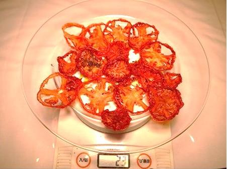 18時間乾燥後のトマト